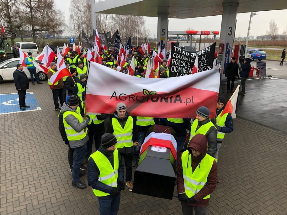 Protest rolników w okolicach Środy Wielkopolskiej /Mateusz Chłystun /RMF FM