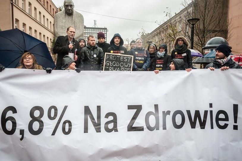 Protest środowisk medycznych, zdj. ilustracyjne /Marcin Jurkiewicz /East News
