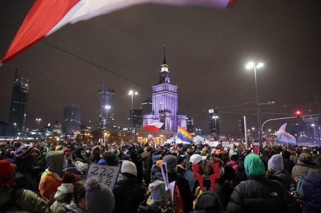 Protest Strajku Kobiet w Warszawie /Michał Dukaczewski /RMF FM