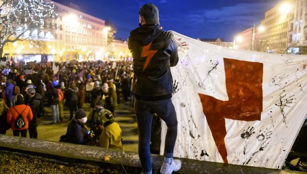 Protest Strajku Kobiet /Jakub Kaczmarczyk /PAP