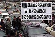 Protest taksówkarzy /RMF FM