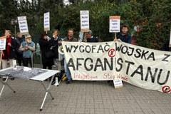 Protest w 10. rocznicę wojny w Afganistanie
