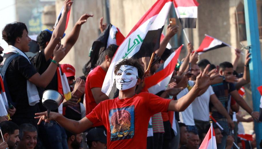 Protest w Bagdadzie / AHMED JALIL    /PAP/EPA