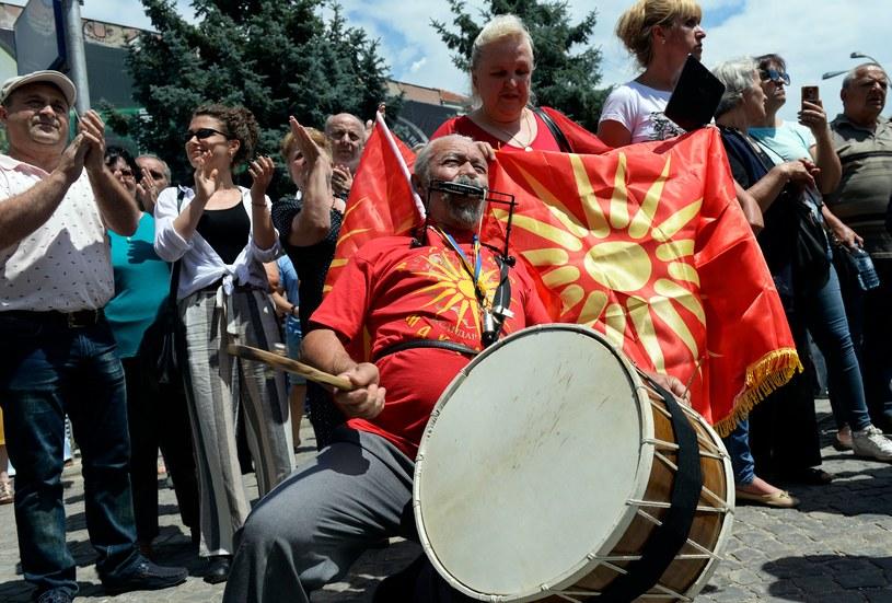 Protest w Bitoli przeciwko zmiany nazwy państwa /AFP