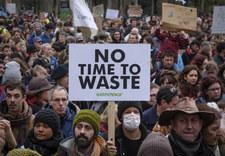 Protest w Brukseli na rzecz powstrzymania zmian klimatycznych
