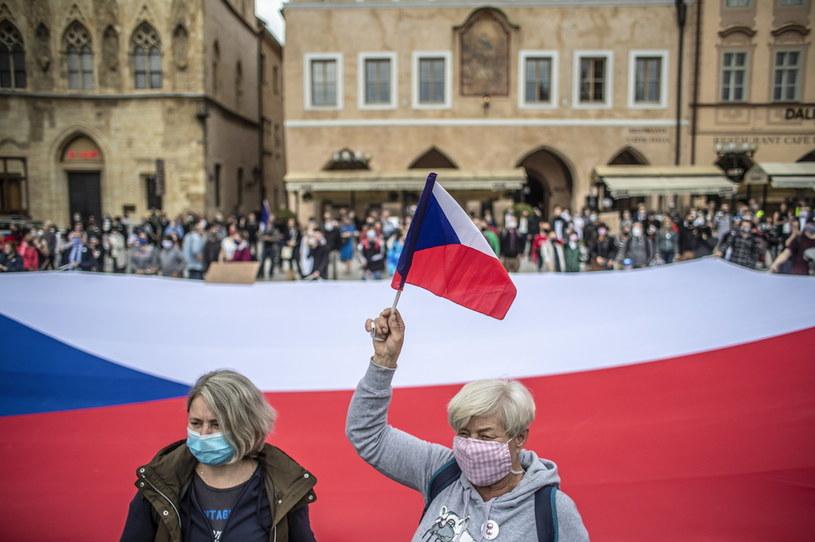 Protest w Czechach /Martin Divisek /PAP