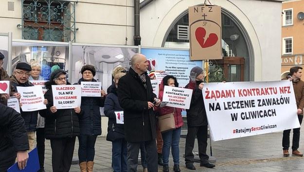 Protest w Gliwicach /Anna Kropaczek /RMF FM