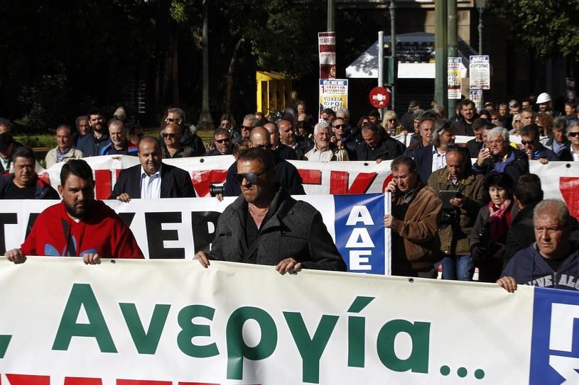 Protest w Grecji /ALEXANDROS VLACHOS /PAP/EPA