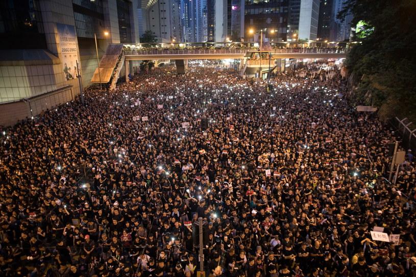 Protest w Hongkongu /JEROME FAVRE /PAP/EPA