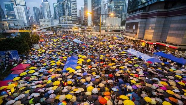Protest w Hongkongu /ALEX HOFFORD /PAP/EPA