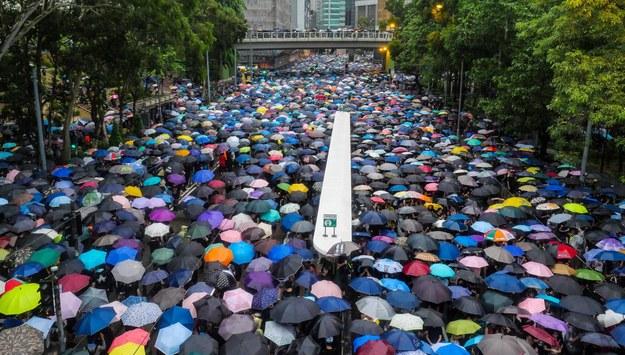 Protest w Hongkongu / THOMAS MARESCA /PAP/EPA