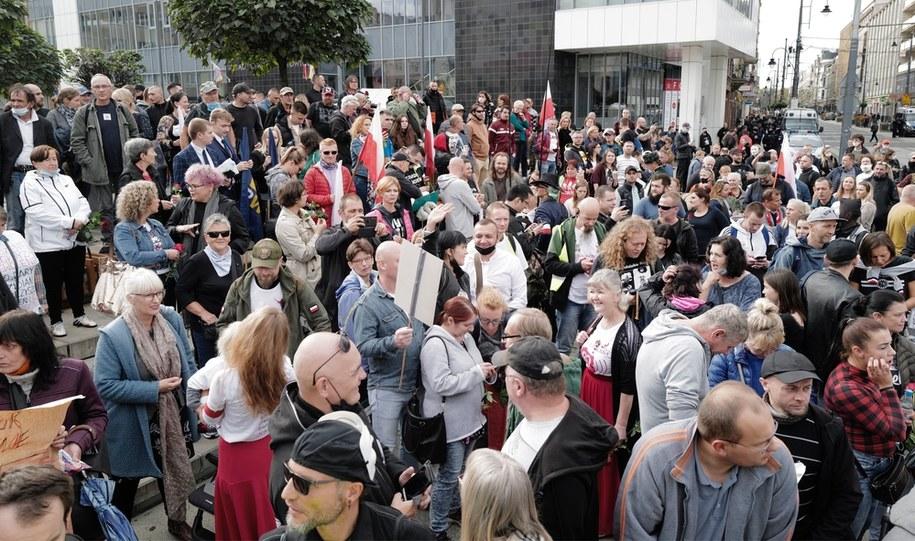 Protest w Katowicach / Andrzej Grygiel    /PAP