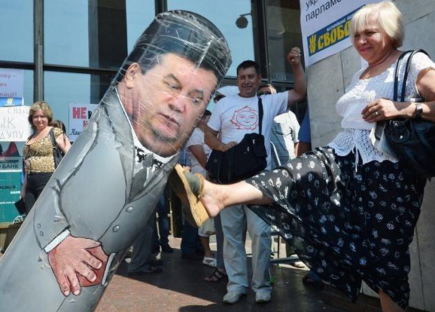 Protest w Kijowie /AFP