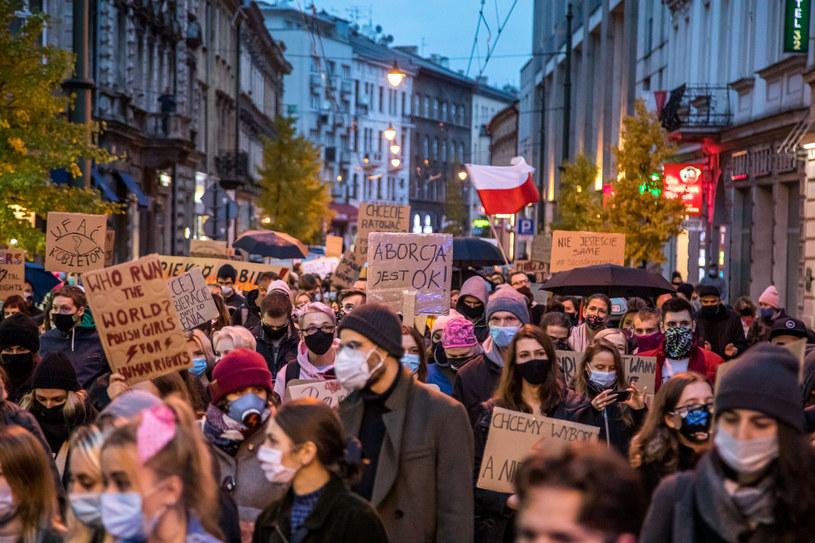 Protest w Krakowie, 1 listopada 2020 /Jan Graczynski/East News /East News