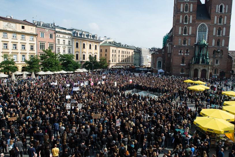 Protest w Krakowie /Joanna Mrówka /Agencja FORUM