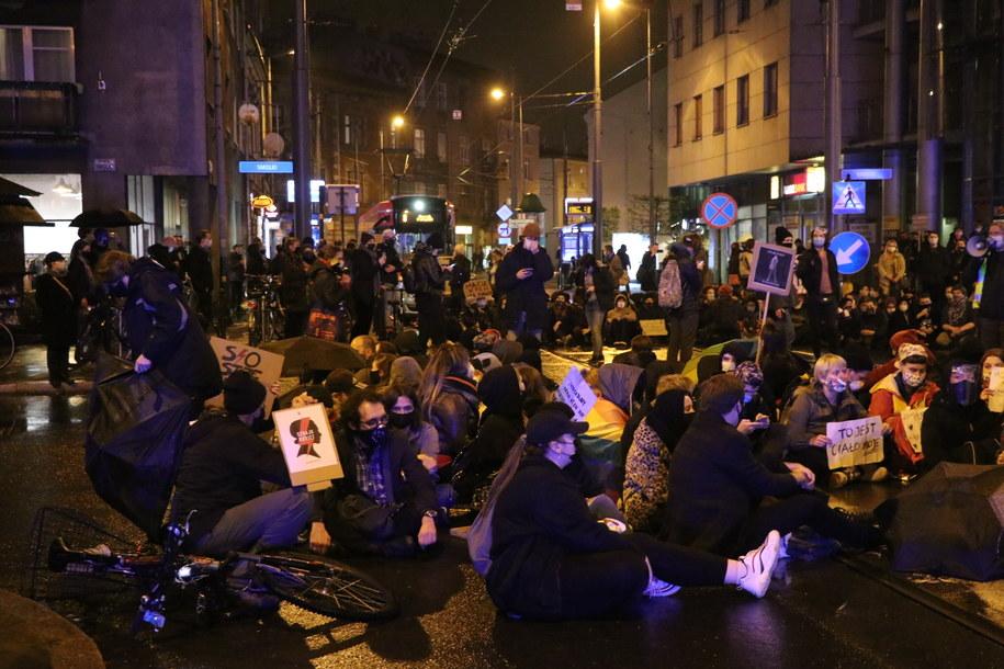 Protest w Krakowie /Józef Polewka /RMF FM