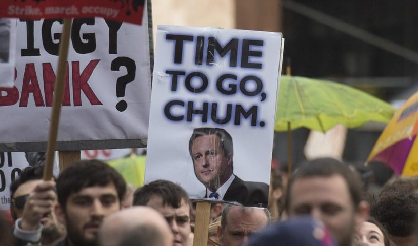 Protest w Londynie /PAP/EPA