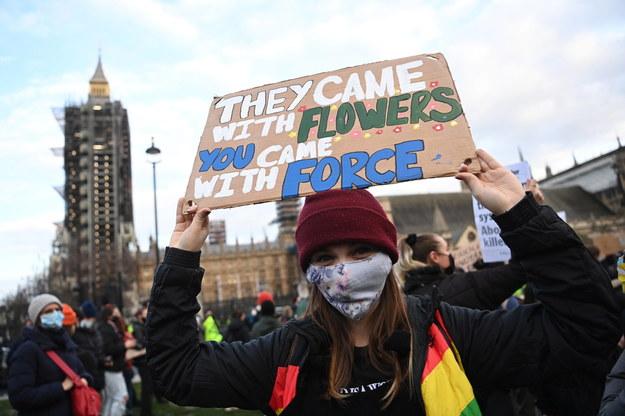 Protest w Londynie / NEIL HALL /PAP/EPA