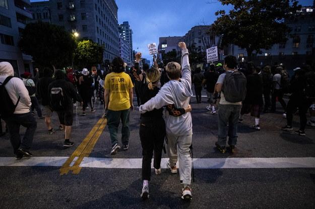 Protest w Los Angeles /ETIENNE LAURENT /PAP/EPA