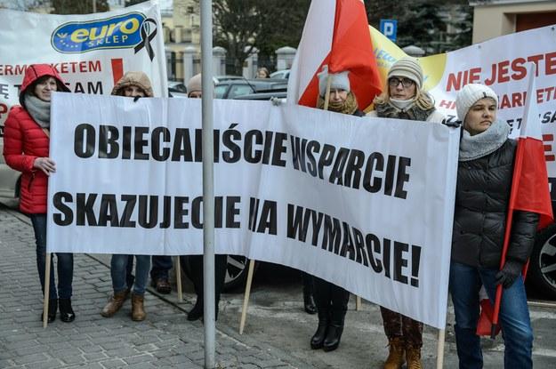 Protest w Lublinie: Manifestacja właścicieli małych i średnich sklepów /Wojciech Pacewicz /PAP