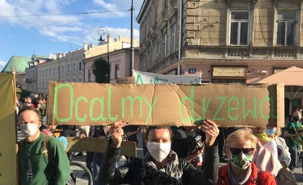 Protest w Lublinie. Mieszkańcy bronią drzew przed wycinką