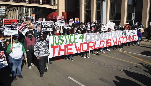 Protest w Minnesocie /Craig Lassig /PAP/EPA