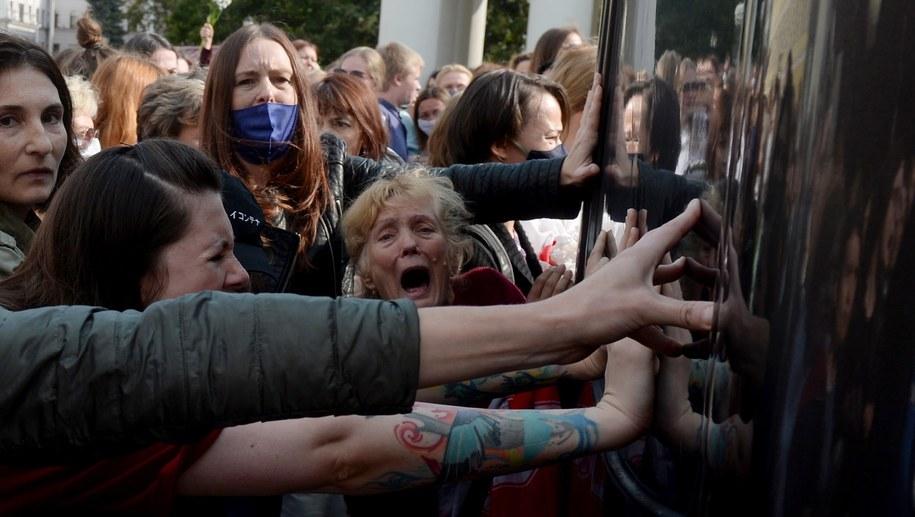Protest w Mińsku /STRINGER /PAP/EPA