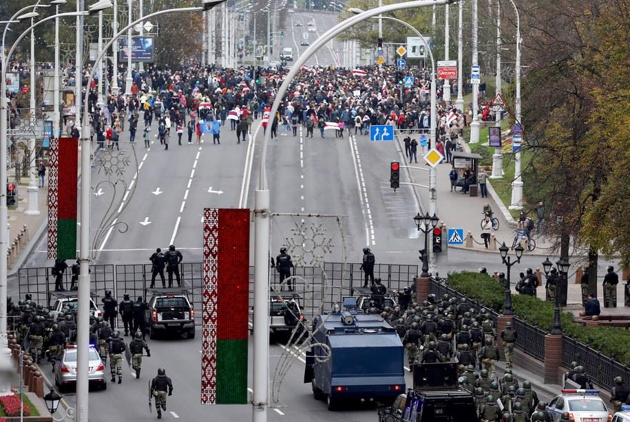 Protest w Mińsku / STR   /PAP/EPA