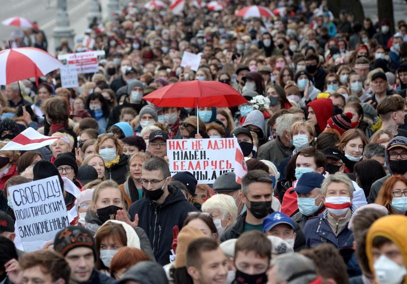 Protest w Mińsku //EPA/STR /PAP