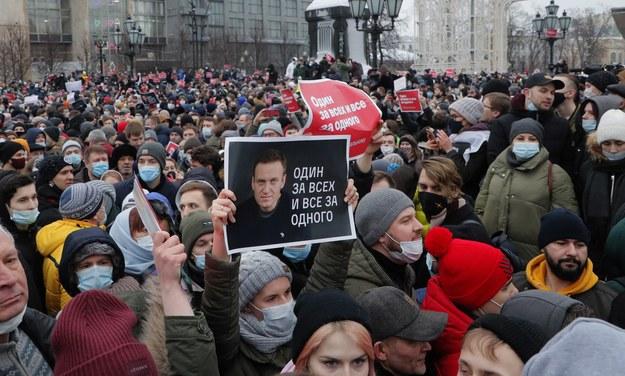 Protest w Moskwie /MAXIM SHIPENKOV    /PAP/EPA