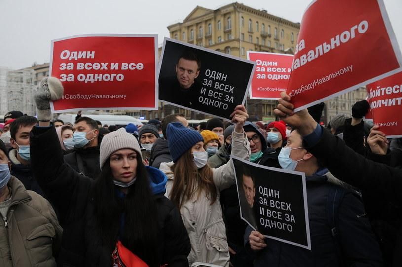 Protest w Moskwie /Mikhail Svetlov /Getty Images