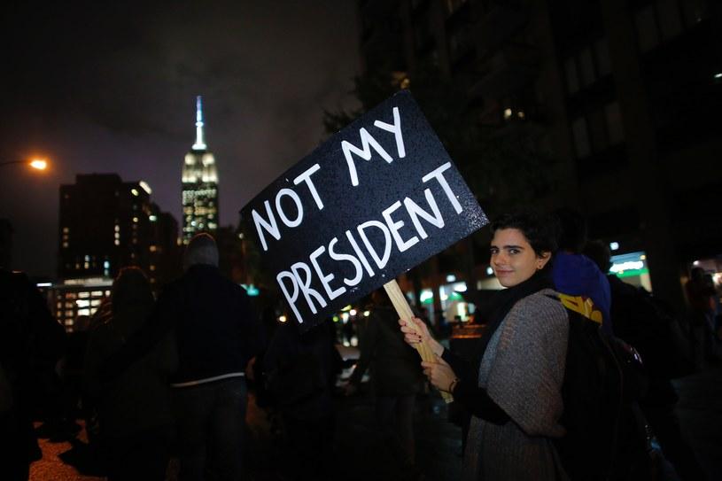 Protest w Nowym Jorku po wygranej Donalda Trumpa /AFP
