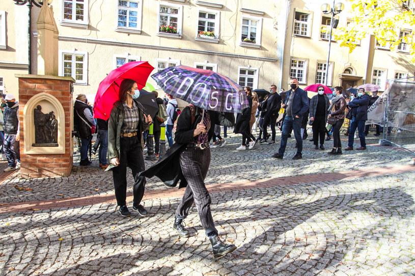 Protest w Olsztynie, 25 października 2020 /Artur Szczepański /Reporter