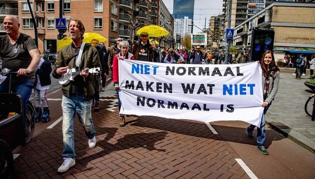 Protest w Rotterdamie /Utrecht Robin/ABACAPRESS.COM /PAP/EPA