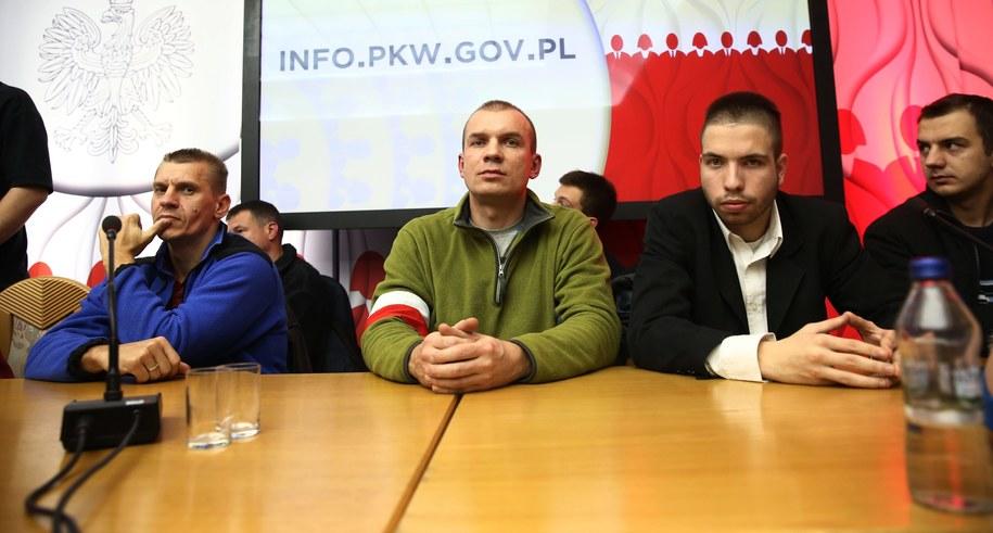 Protest w siedzibie Państwowej Komisji Wyborczej /Tomasz Gzell /PAP