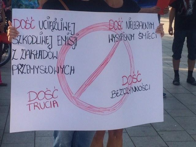 Protest w Skawinie przeciwko zatruwaniu powietrza /Anna Kropaczek /RMF FM