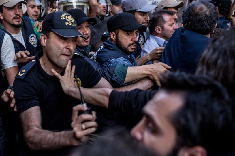 Protest w Stambule, 31.05.2017. MSZ radzi, żeby unikać publicznych zgromadzeń w Turcji /Getty Images