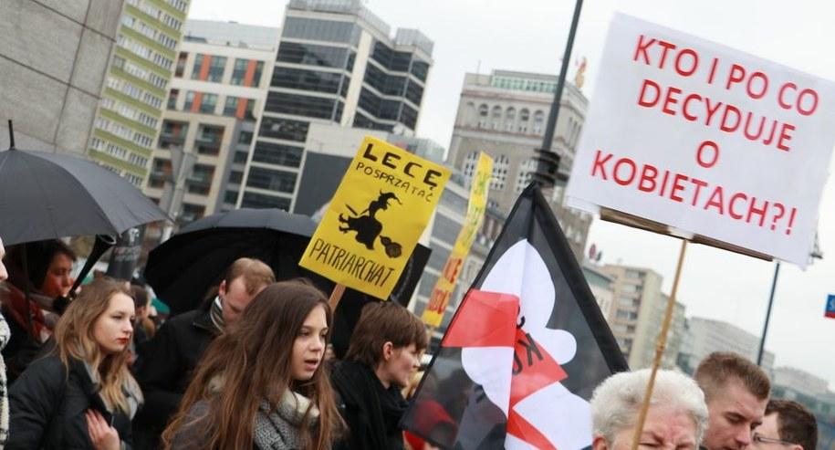 Protest w Warszawie /Kamil Młodawski /RMF FM