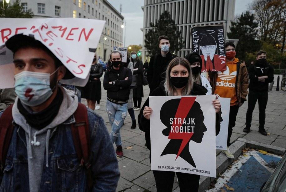 Protest w Warszawie /Mateusz Marek /PAP