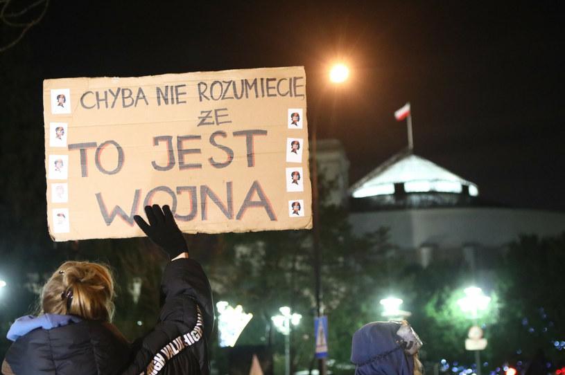 Protest w Warszawie /Tomasz Jastrzębowski /Reporter