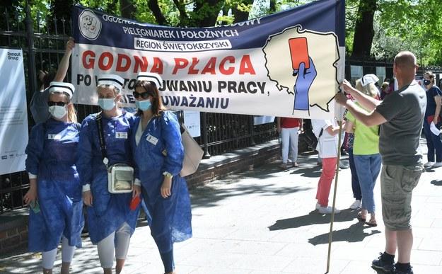 Protest w Warszawie /Radek  Pietruszka /PAP
