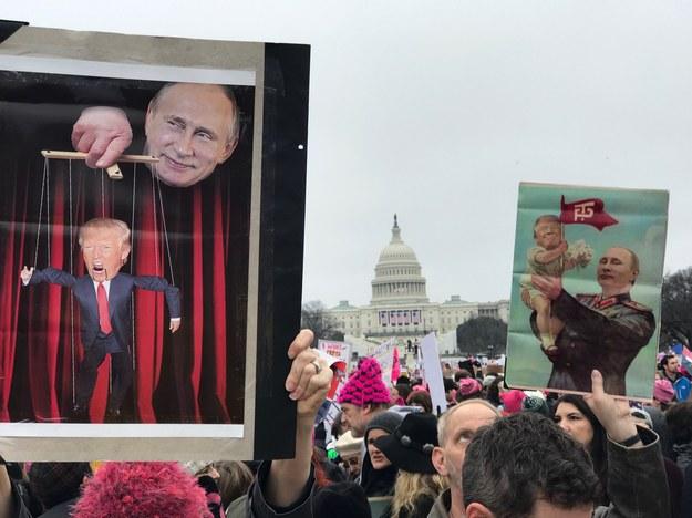 Protest w Waszyngtonie /Paweł Żuchowski /RMF FM