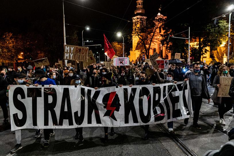 Protest we Wrocławiu /Krzysztof Kaniewski /Reporter