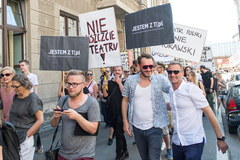 Protest Zespołu Teatru Polskiego we Wrocławiu