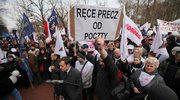 Protest związkowców Poczty Polskiej