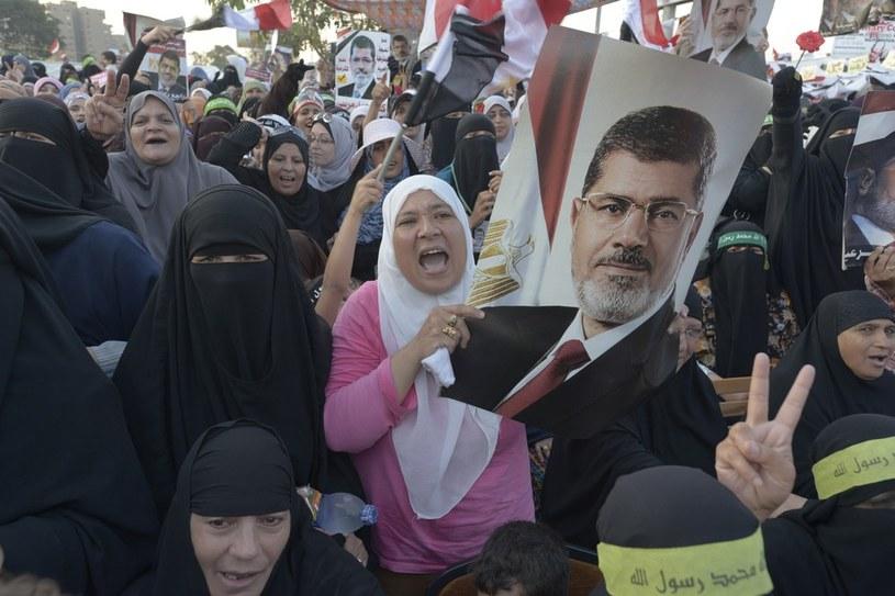 Protest zwolenników Mohammeda Mursiego /Polaris /East News