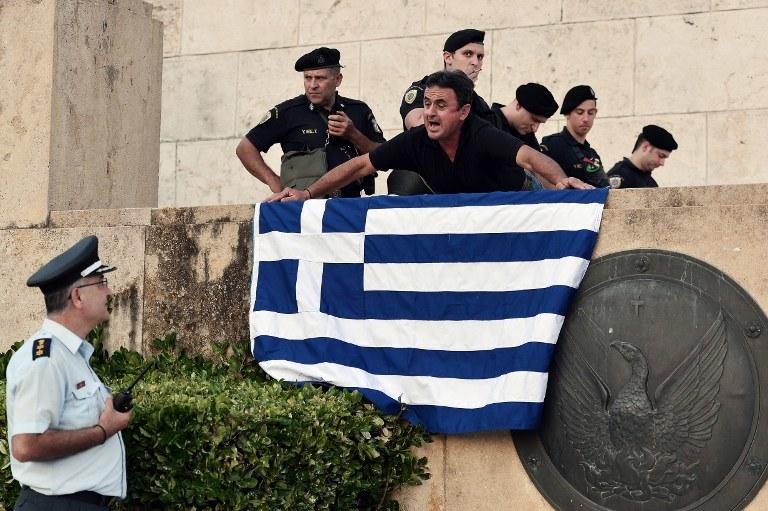 Protestujący Grecy, zdj. ilustracyjne /AFP