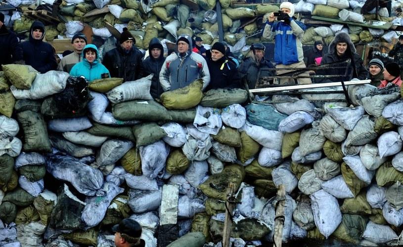 Protestujący na Majdanie luty 2014 /Jerzy Jurecki /Reporter