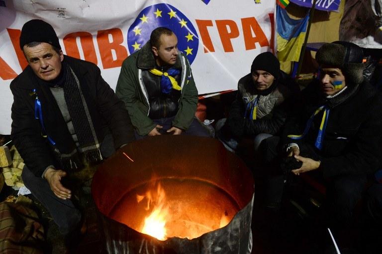 Protestujący na Majdanie Niezależności /AFP