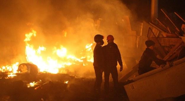 Protestujący na Majdanie /PAP/EPA/IGOR KOVALENKO /PAP/EPA